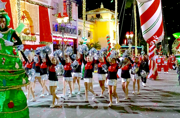 Cheerleaders Celebrate the Season in Orlando