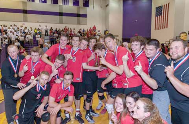 Volleyball Win in PIAA Tournament