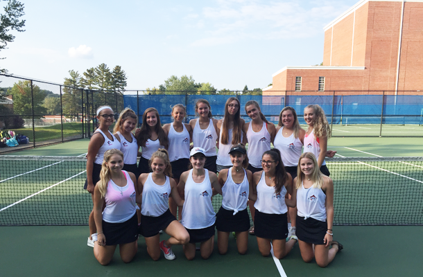Girls Repeat as Tennis Champions