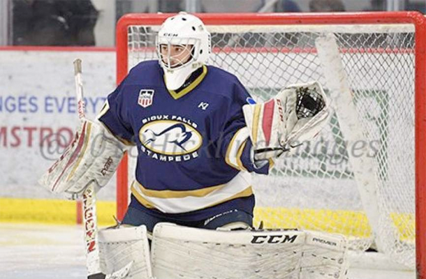 Adam Veltri in goal