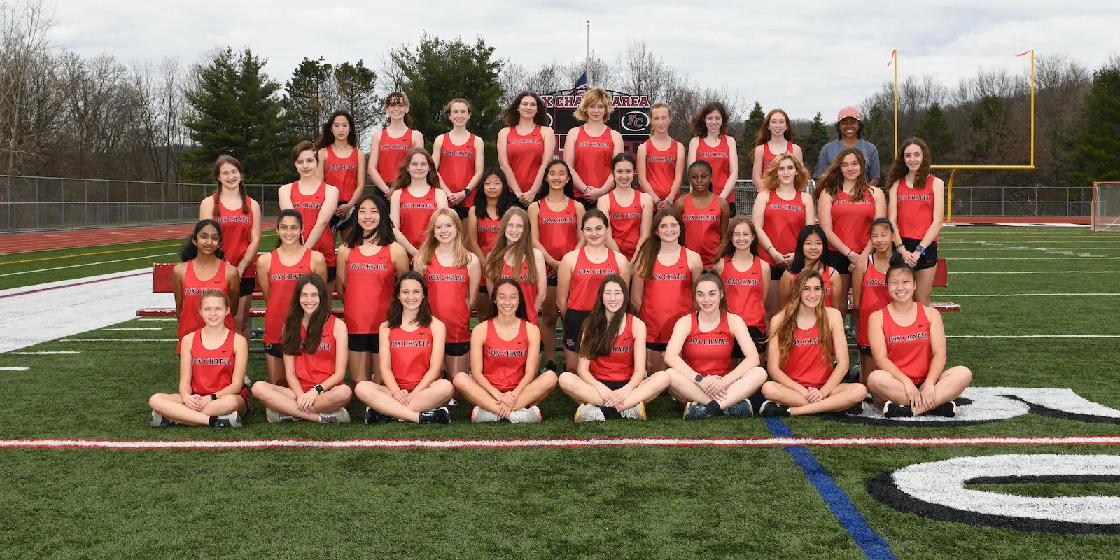 Girls' track team