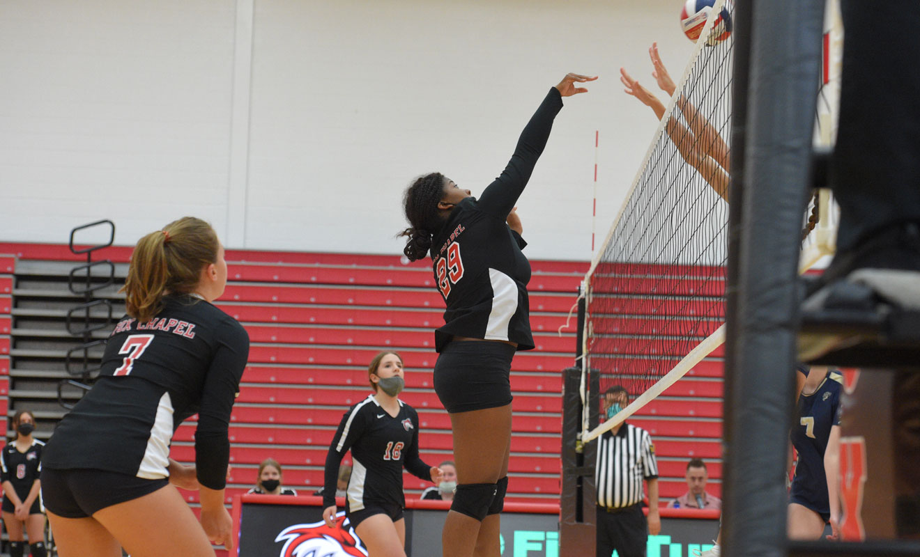 Girls' volleyball action